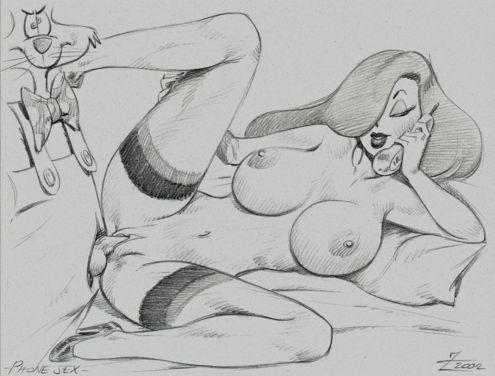 rabbit jessica who framed rabbit porn roger Raven and starfire lesbian sex