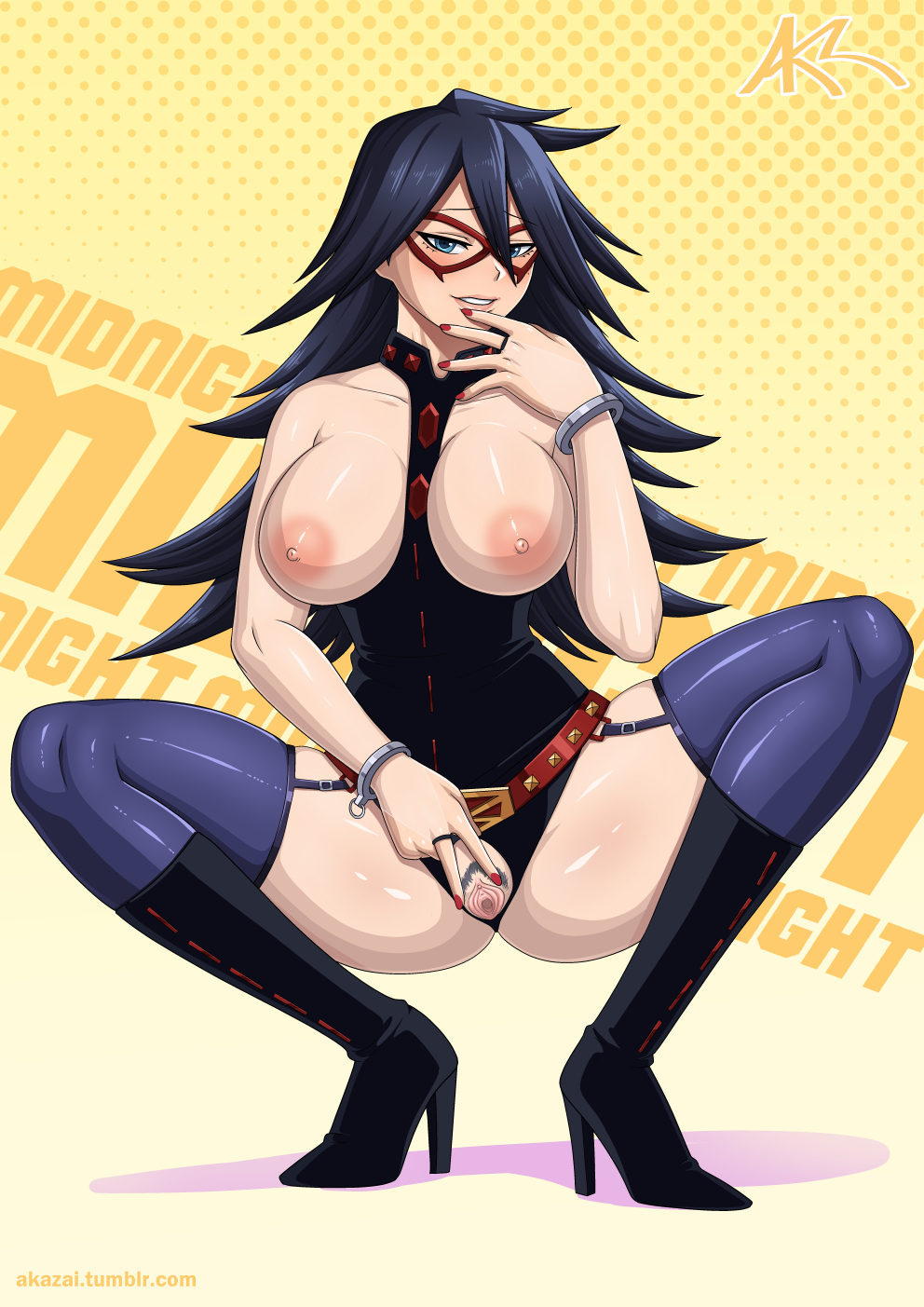 academia characters female hero boku no Futa on male cum inflation