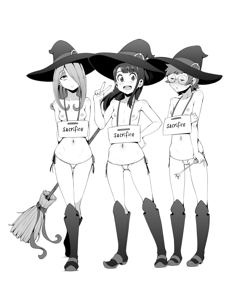 little witch hanna academia and barbera Papi the harpy