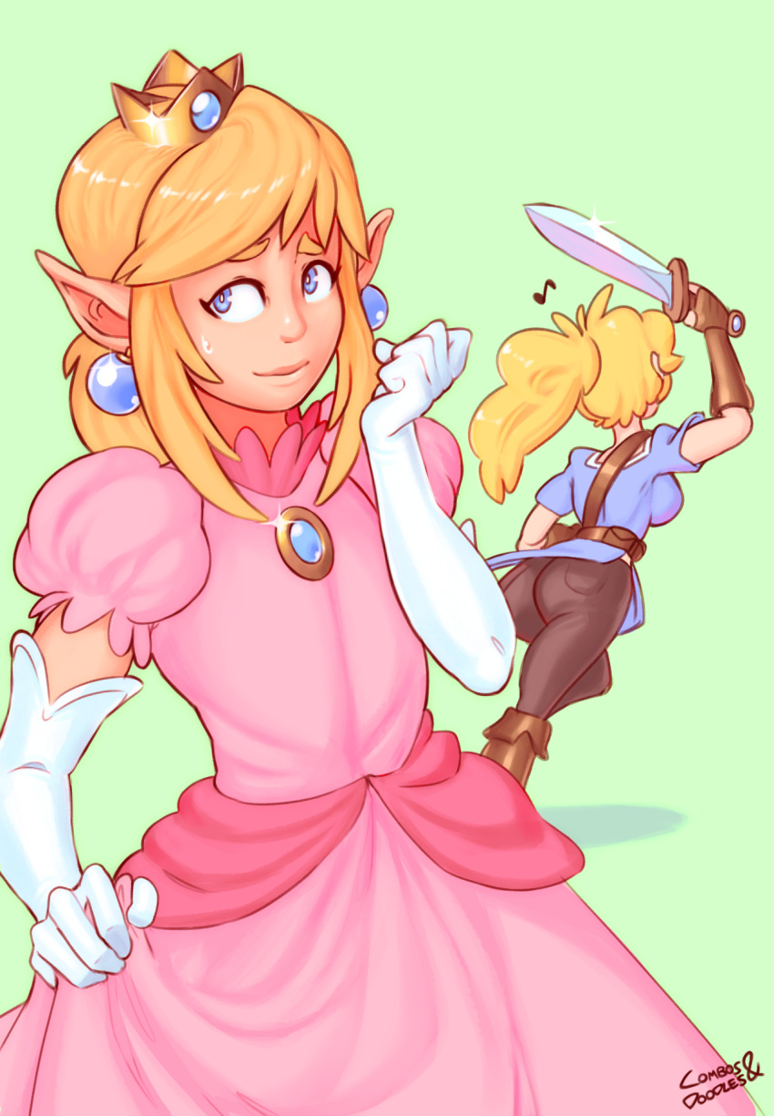 princess peach daisy and kissing Eden the binding of isaac