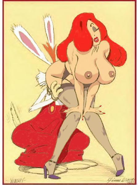 rabbit who roger framed pussy Dragon ball super kale caulifla